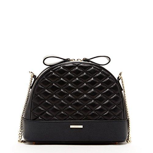 SUSU The France Handtasche aus gestepptem Lammleder, Schwarz (schwarz), Medium -