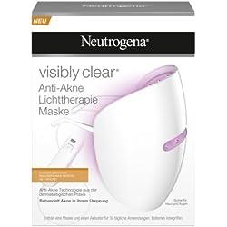 Neutrogena visibly clear Anti-Akne Lichttherapie Maske zur sanften Aknebehandlung für zuhause, reduziert Akne-Pickel bereits ab Woche 1 mit blauem/rotem Licht