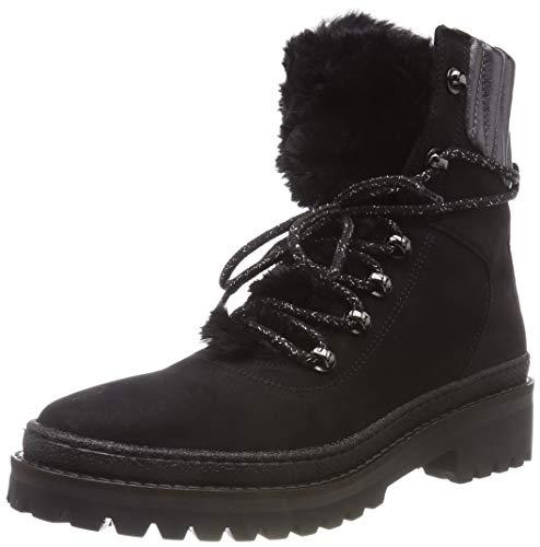Tommy Hilfiger Damen Warmlined LACE UP Combat Boots, Schwarz (Black 990), 40 ()