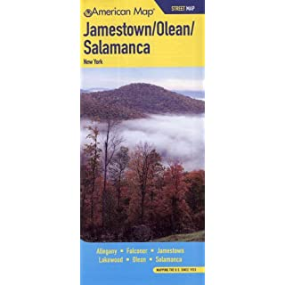 Jamestown Olean Salamanca NY Street Map