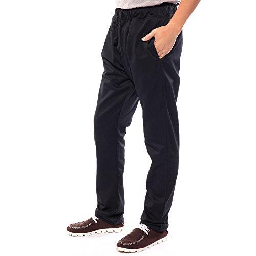 Pantaloni da chef   catering con elastico in vita  colore nero baa2d496665b