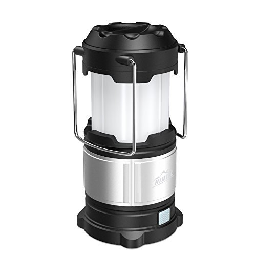 HiHiLL Camping Lantern Power Bank, 4 Lighting Modes, 185 Lumens, USB Rechargeable / Battery Operated, Collapsible, Water Resistant LED Lantern...