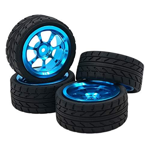 Homyl 4 Stück Felge Reifen Gummireifen Räder für 1:18 WLtoys RC Auto