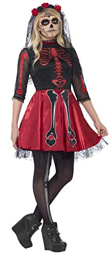Smiffy's 44342S - Day Of The Dead Diva Kostümes mit Dress und - Diva Fancy Dress Kostüm
