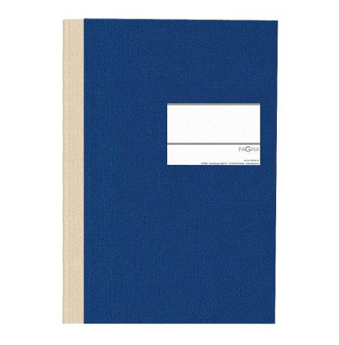 Pagna 14112-02 Geschäftsbuch PNA CLASSICA A4 Papiereinband mit Leinenstruktur, Geweberücken 96 Blatt, liniert, Farbe: blau