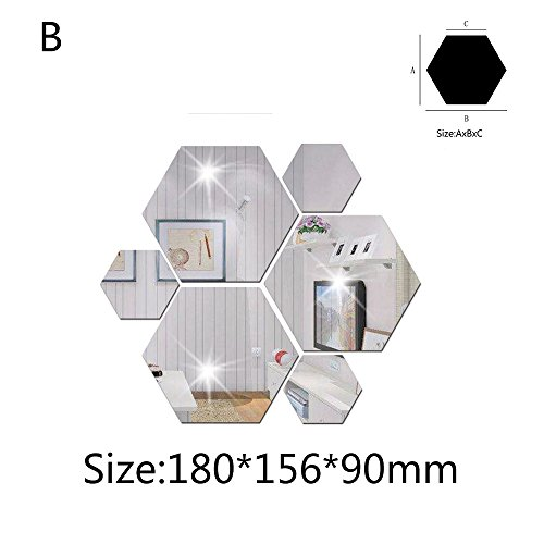 OIKAY Wandaufkleber 7 Stücke 3D Spiegel Hexagon Vinyl Abnehmbare Wandaufkleber Aufkleber Home Decor Art DIY hausgarten küche zubehör dekorative aufkleber wandbilder