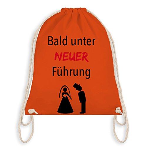 JGA Junggesellenabschied - Bald unter neuer Führung - Turnbeutel I Gym Bag Orange