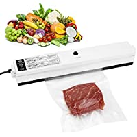 Vacuum Sealer, Alegender Automatic Food Vacuum Sealing Machine One-Touch Food Saver for Meat Fruits Vegetables Preservation Automatically Vacuum Seal & Weld Keep Foods Fresh Up with 15pcs Sealer Bags