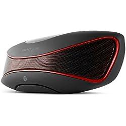 Energy Sistem Music Box BZ3 - Altavoz portátil con Bluetooth (USB/SD, FM, Audio-In, display retroiluminado) negro y rojo