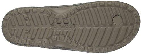 crocs Unisex Realtree Xtra Flip Flop Khaki