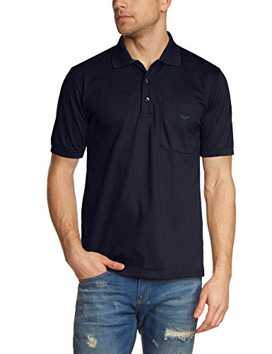 Trigema Herren Poloshirt Brusttasche, Einfarbig, Gr. XXXXX-Large, Blau (navy 046) (Herren Polo Pique Golf)