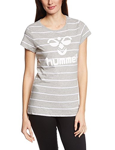 Hummel Damen T-Shirt Classic Bee Womens Short Sleeve Tee, grey melange, M, 08-775-2006 (2006 Tee)