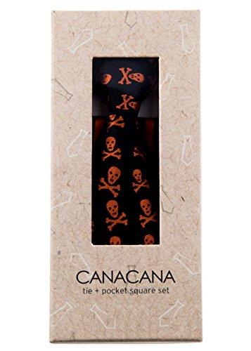 Canacana - Cravate - Motifs - Garçon Orange - Orange/noir