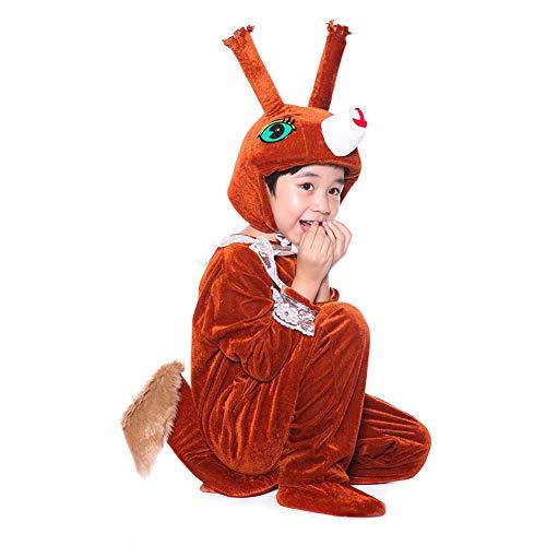 Kostüm Eichhörnchen Kleinkind - LOLANTA Kostüm für Kinder Tierkostüm Kinderkostüm Jungen Mädchen Kinder-Faschingskostüme,Geburtstags-Geschenk Weihnachts-Geschenk