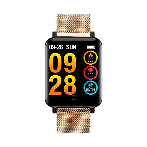 OPAKY Smart Watch Armband Sport Schrittzähler Herzfrequenz Schlaf Blutdruckmessgerät für Muttertagsgeschenk
