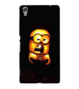For Sony Xperia C6 yellow cartoon ( yellow cartoon, burning cartoon, cartoon ) Printed Designer Back Case Cover By CHAPLOOS