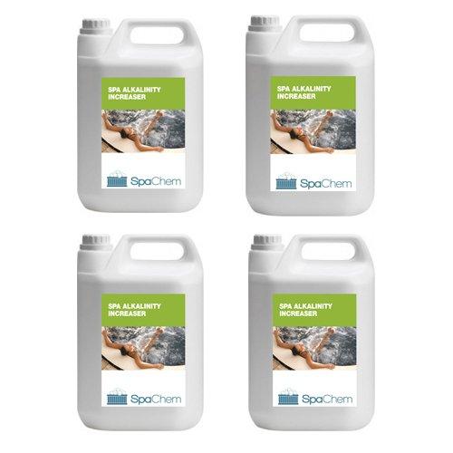 4x 5kg Spa Alkalinität Erhöhung von spachem-Pure TA Plus Spa Chemikalien Für Hot Tub Spa Schwimmbad Wasser Behandlung (Bulk)