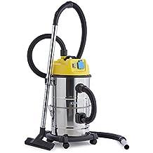 Klarstein Reinraum aspirapolvere professionale potente 3 in 1 (aspiratore polvere e liquidi, funzione ventilatore e aspiracenere, motore 1800 W, contenitore da 30 litri) - giallo