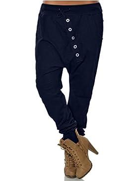 CICIYONER Mujeres Moda Novia Hipsters Harem Pants Bloomers Baggy Pants Pantalones