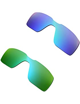Hkuco Plus Mens Replacement Lenses For Oakley Probation Blue/Green Sunglasses