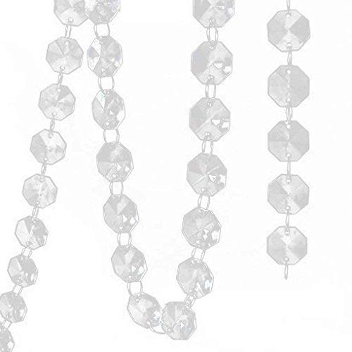 meisijia 14mm Crystal Clear Acryl achteckige Perle hängen Hochzeit Dekor Bäume Herzstück (Herzstück Baum)