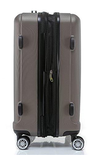BEIBYE TSA-Schloß 2080 Hangepäck Zwillingsrollen neu Reisekoffer Koffer Trolley Hartschale Set-XL-L-M(Boardcase) in 12 Farben (Coffee, Set) - 6