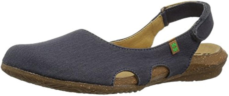 EL NATURALISTA N415T - Scarpa Aperta Dietro in Microfibra con Cinturino in Velcro al Tallone | Più economico del prezzo  | Scolaro/Signora Scarpa