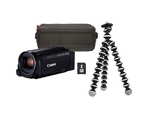 Canon LEGRIA HF R86 Camcorder Premium Kit (inklusiv DVC Gorillapod, 8GB SD-Karte und Tasche DVA-BC100) schwarz