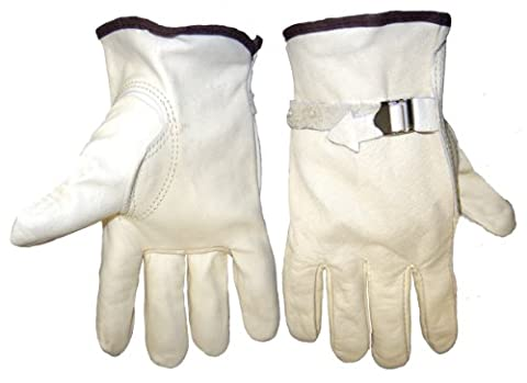 Global Glove 3200PS Cow Grain Leather Pull Strap Drivers Glove, Work, Extra Large (Case of 72)