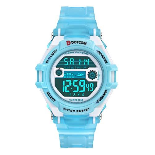 29b7de5fbf29 Relojes de Pulsera Electrónicos Para Niños Niños Digital Relojes Para Niños  Niñas Deportes–5 ATM