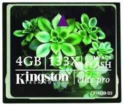 Kingston elite pro 133x compactflash card 4 gb