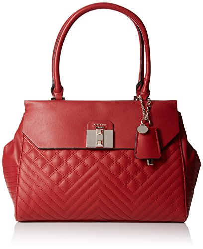 guess-rebel-roma-satchel-sacs-a-main-femme-rouge-ruby-taille-unique