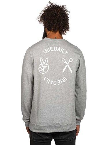 Herren Sweater Iriedaily Scissor Crew Sweater Grey Mel