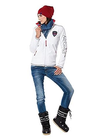 Nebulus Styler Veste polaire Femme Blanc FR : M (Taille Fabricant : M)