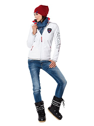 Nebulus Styler Veste polaire Femme Blanc FR : L (Taille Fabricant : L)