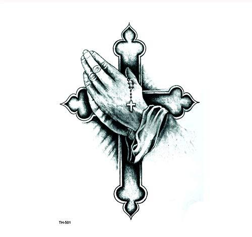Drthukg adesivo tatuaggio adesivo per tatuaggio temporaneo impermeabile a croce adesivi per bambini tatuaggi art tattoo a