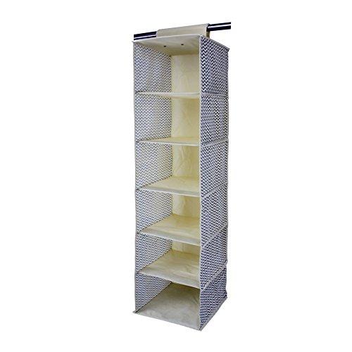 rebecca-srl-organizzatore-portatutto-6-scompartimenti-beige-grigio-tessuto-resistente-armadio-camera