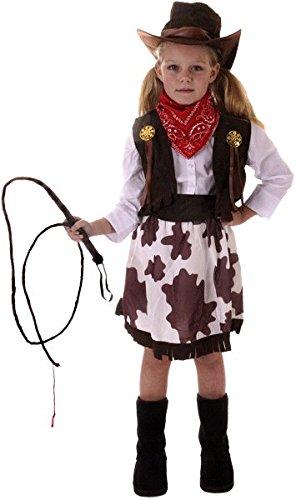 s Cowboy Western Wild Sheriff Cowgirl-Kostüm für Kleinkinder (Traditionelle Cowgirl Kostüm)