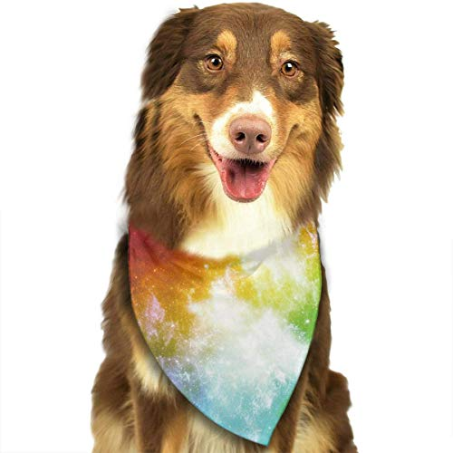 Colorful Galaxy Solar System Pet Dog Cat Bandanas Triangle Bibs Pet Scarf Dog Neckerchief Headkerchief Pet Accessories
