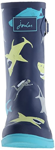 Joules  Printed Welly,  Jungen Stiefel Blue (Multi Shark)