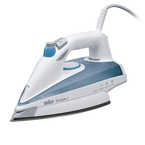Braun TS725A TexStyle 7 Steam Iron with anti scratch Eloxal Soleplate, 50g/min variable steam, auto shut off, 2400 W, 2…