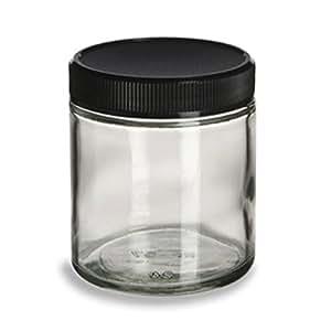 Pot en plastique transparent avec couvercle 16oz