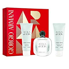Idea Regalo - Armani Set Acqua di Gioia + Gel Douche 75 ml + Latte Corpo 75 ml - Profumo Donna