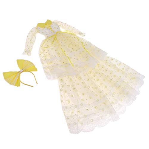 FLAMEER Modische Puppe Kleid Hochzeitskleid Ballkleid Doll Dress Outfit für 1/3 BJD Mädchen Puppe...