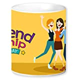 Jikraa Orange Friendship Day Coffee Mug Multicolor 350 ml