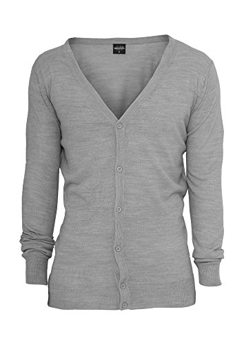 Urban Classics TB405 Knitted Cardigan Uomo Regular Fit (Grey, S)