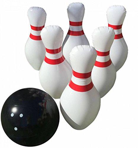 Riesige aufblasbare Bowling Set-Indoor Outdoor-Jumbo Größe-61cm Pins und 45,7cm Ball-Eine tolle Party Spiel. übergroßen Spaß für Kinder aller Alter. Bonus: kostenlos Bowling Score Blatt -