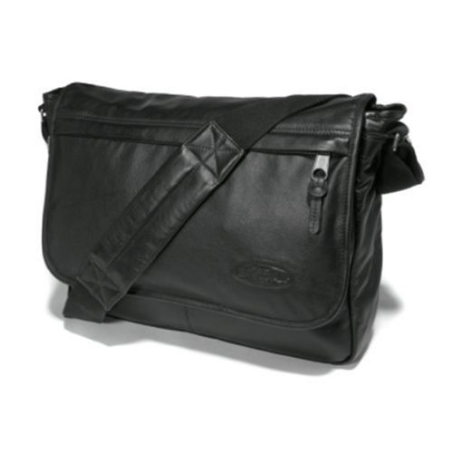 Eastpak Schultertasche Delegate, black leather, 20 liters, EK076762