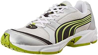 Puma Men's Neptune DP Puma Silver-Lime Punch Running Shoes - 6 UK/India (39 EU)