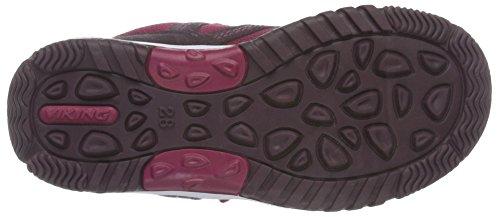 Viking Woodpecker Mid, chaussures avec fermeture scratch mixte enfant Violet - Violett (aubergine/fuchsia 8317)